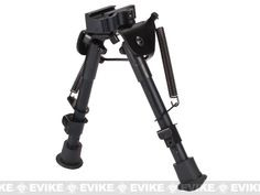 Evike.com All-Platform Real Steel Retractable Harris Type Bipod (RIS   Stud Sniper Mount) great bipod highly recommend