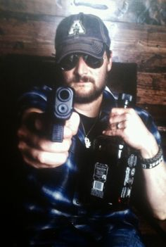 Eric Church.. a man after my own heart, likes guns and Jack :)