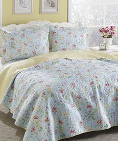 Love this Crofton Quilt Set by Laura Ashley Home on #zulily! #zulilyfinds