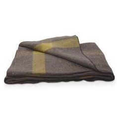 Vintage Gray Wool Blanket
