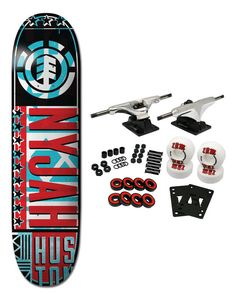 "DECK: NYJAH HUSTON BILL. Core Trucks fill a niche in the Skateboard Market. The aluminum 5.0 hangers measure axles measure 7 5/8"". These are light weight, turn great, grind well, long lasting, and assembled in the U.S.A. 
