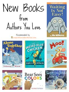 Some of your favorite picture book authors have new books out. Have you seen the latest by Mo Willems, Doreen Cronin, Judy Schachner, and more? I love Mo Willems! Library Books, New Books, Good Books, Books To Read, Library Ideas, Book Suggestions, Book Recommendations, Kids Reading, Reading Lists