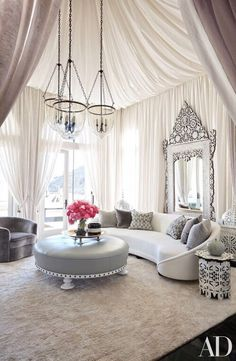 Beau Martyn Lawrence Bullard Tented Khloéu0027s Living Room With A Sheer Fabric Of  His Own Design And Grouped A Vintage Sofa From John Salibello With A  Levantine ...
