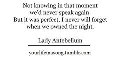 We Owned the Night- Lady Antebellum