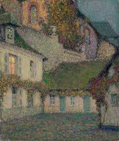 Henri Eugène Augustin le Sidaner, La maison sous l'église au crépuscule
