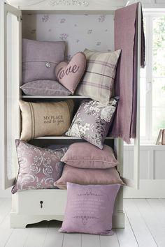 Mauve Love Heart Cushion from Next
