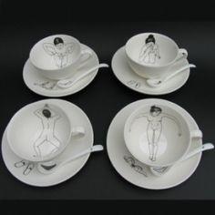 Bathing Girls Tea Set by Esther Horchner http://www.giftgenies.com/presents/bathing-girls-tea-set