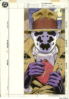 Rorschach by Dave Gibbons from the collection of David Mandel
