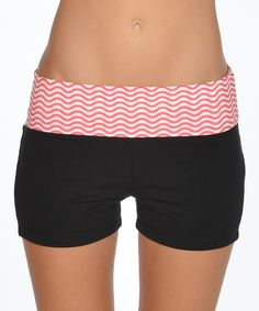 Loving this Hot Pink & Black Shorts on #zulily! #zulilyfinds