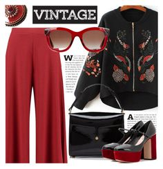 """""""Vintage"""" by cilita-d ❤ liked on Polyvore featuring Boohoo, Marc Jacobs, Miu Miu, Sara Attali, Thierry Lasry and vintage"""