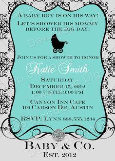 Custom Baby Shower Invitation Boy or Girl YOU by DewDropDigitals, $12.99
