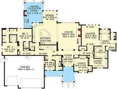 Rugged Craftsman with 4 Beds and Bonus - 69599AM | Architectural Designs - House Plans