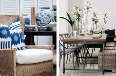 Interior designer Yvonne O'Brien opened a showroom called The Private House Company where she sources furnishings from all over the world as well as Rustic White, Modern Rustic, Showroom, Dining Chairs, Dining Rooms, Indoor, Interior Design, Wood, Furniture
