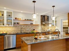 Kitchen Ideas No Wall Cabinets black subway tile in the kitchen is more striking without any