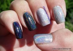 Glittery Fingers & Sparkling Toes: Holographic Skittle Skittle, Innovative Ideas, Fabulous Nails, Holographic, Pretty Nails, Fingers, Atlanta, Sparkle, Nail Art