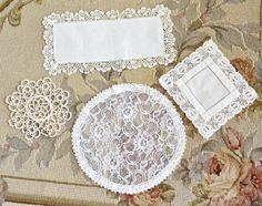 Lovely Collection of Vintage Doilies by Jenneliserose on Etsy