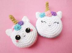 free amigurumi pattern - crochet unicorn macarons
