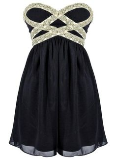 Iced Goddess Dress: Features an elegant strapless cut with charming sweetheart bustline, criss-crossed maze of sparkling rhinestones, beads and sequins at the bodice, centered back-zip closure, and a gathered twirl-worthy skirt to finish. K thanks for the info, time to empty my bank account.