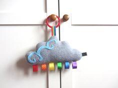 Hanging Rainbow Cloud Toy, Baby Toy Cloud Rainbow