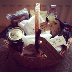 Christmas hampers for my family, homemade ginger cordial, peppermint bark, gingerbread, flapjack, chilli oil, pickled onions etc.,