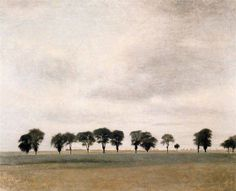 "https://www.facebook.com/MiaFeigelson ""Landscape - Kongevejen near Gentofte"" ""Kongevejen mellem Gentofte"" (1892) By Vilhelm Hammershøi, from Copenhagen, Denmark (1864 - 1916) - oil on canvas - Private Collection"