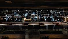 "Meat Restaurant ""Sazha"" by YOD design lab, Sums'ka oblast – Ukraine Restaurant Furniture, Restaurant Interior Design, Design Lab, Wall Design, Ukraine, Coffee Lab, Coffee Shop, Meat Restaurant, Bar Design Awards"