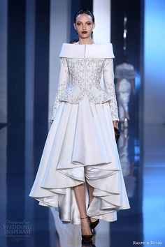 Ralph & Russo Fall/Winter 2014-2015 Haute Couture Collection | Pink and Milk