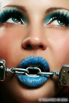 Blue Glitter and Chains
