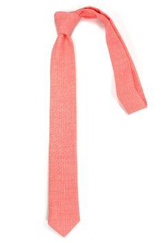 Coral  necktie via Etsy
