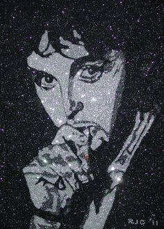 Glitter Art Paul McCartney Paul Mccartney, Glitter Art, The Beatles, Graffiti, Batman, Superhero, Life Quotes, Painting, Fictional Characters