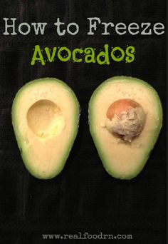 Want to preserve those avocados when they are in peak season? Well, now you can...by  freezing them! It's super easy and they do not turn brown!
