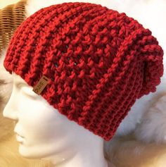 Red woollen hat made by Hat Making, Hooks, Winter Hats, Crochet Hats, Beanie, Red, Fashion, Scarf Knit, Head Bands