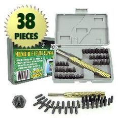 38 piece number and letter punch set 2536