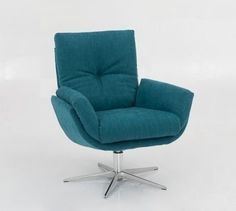 fauteuil-1443-hjort-knudsen-draaifauteuil-relaxfauteuil-draaibaar-verstelbaar-leer-stof-knoop-in-rugleuning-zithoek-modern-eigentijds-modern Egg Chair, Sofa Design, Recliner, Sofas, Relax, House, Furniture, Chairs, Home Decor