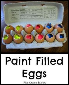 Throw paint-filled eggs at canvas. Date night? Fun, memory-filled art piece? YES. by aida