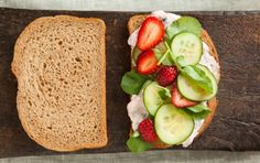 Cucumber Sandwich with Strawberries and Watercress // When summer fruits are at their sweetest, peaches make a worthy substitution for the strawberries in this recipe! #recipe #summer #sandwich