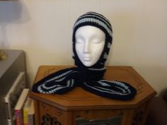 New one of a kind hood with attached scarf by grandmajeannes