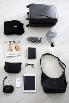 Homevialaura | Travel essentials: carry-on | Balmuir Helsinki scarf | Ohyo water bottle | iPad | Porter Magazine