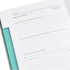 Goals Journal kikki k