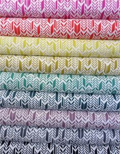 Alison Glass, Sun Print, Feathers in FAT QUARTERS 9 Total