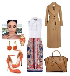 """""""Untitled #1824"""" by stephstyle76 ❤ liked on Polyvore featuring Jimmy Choo, Moschino, Oasis, DKNY and Trina Turk"""