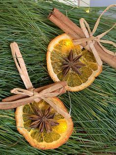 Christmas ornaments/Orange CInnamon Ornaments / Natural   Etsy