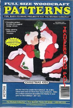 christmas kiss christmas yard art woodworking pattern