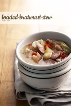 You can even sub in kielbasa or a flavored chicken sausage for the smoked bratwurst in this slow-simmered stew lunch.