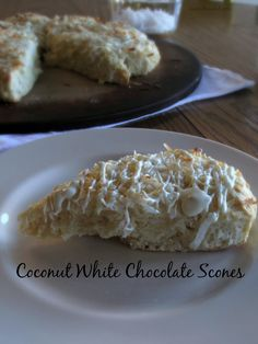Coconut White Chocolate Scones