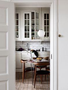 Kjøkken hjemme hos Jonna Fransson Historiska Hem