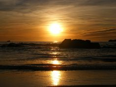 Golden Sunset in Newport Oregon