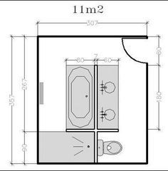 At each bathroom, his plan! Here are ideas of free bathroom plans to match yours by slipping everything you want: shower, bath, double basin, wc … - Bathroom Plans, Bathroom Layout, Modern Bathroom, Rustic Bathrooms, Bathroom Linen Closet, Master Bathroom, Master Closet, Closet Bedroom, Bedroom Storage