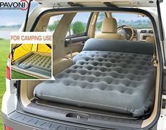 Amazon.com : PAVONI SUV Heavy-duty Backseat Car Inflatable Travel Mattress for Camping / Perfect For SUV/RV/Minivan (Gray)With Air Pillow + Air Neck Cushion SET : Sports & Outdoors