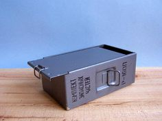 Vintage Metal Storage Box. USSR. treasure chest. Small storage box, utility box, rustic storage, jun